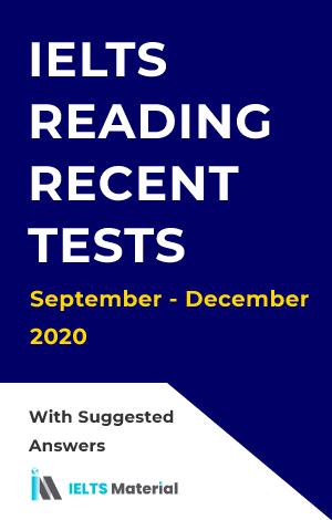 IELTS Reading Academic Recent Actual Tests ( September – December 2020) with Answers