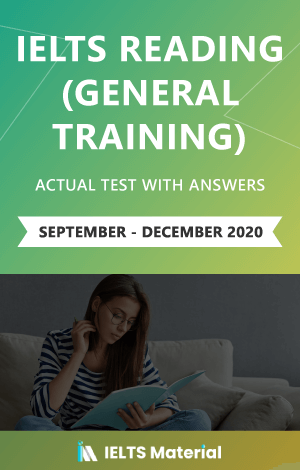 IELTS Reading (General Training) Actual Tests with Answers (September – December 2020) – Ebook