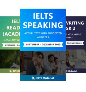 IELTS Combo (Speaking+Reading+ Writing Task 2) September – December 2020 Ebooks
