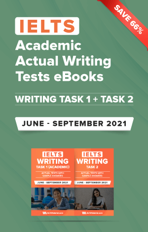 IELTS (Academic) Writing Actual Tests eBook Combo (June-September 2021) [Task 1+ Task 2]