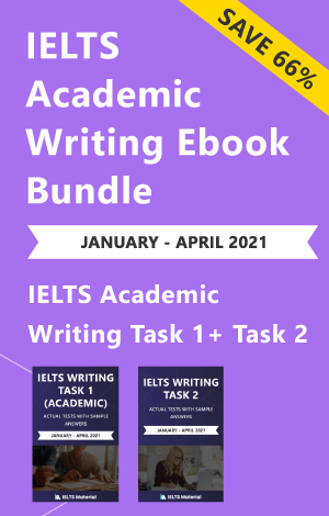IELTS (Academic) Writing Actual Tests Ebook Combo (Jan-Apr 2021) [Task 1+ Task 2]