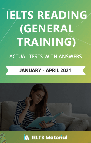 IELTS Reading (General) Actual Tests with Answers (Jan-Apr 2021) | Ebook