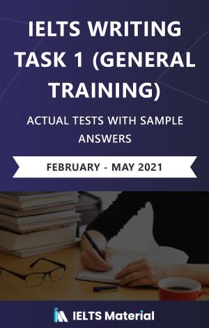IELTS Writing (General) Actual Tests eBook Combo (Feb-May 2021) [Task 1+ Task 2]