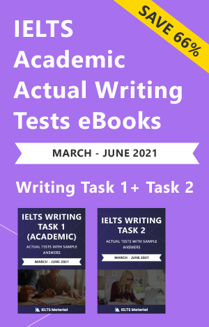 IELTS (Academic) Writing Actual Tests eBook Combo (March-June 2021) [Task 1+ Task 2]