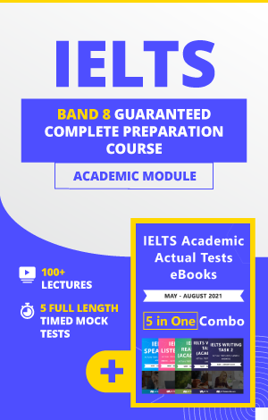 Comprehensive IELTS Academic Band 8 Complete Preparation Course + 5 in 1 Academic eBook Combo