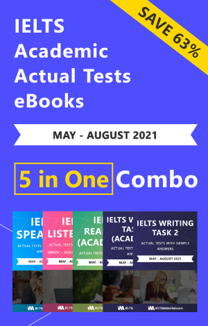 IELTS (Academic) 5 in 1 Actual Tests eBook Combo (May-August 2021) [Listening + Speaking + Reading + Writing Task 1+ Task 2]