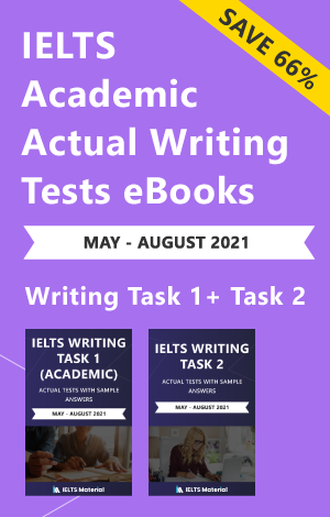 IELTS (Academic) Writing Actual Tests eBook Combo (May-August 2021) [Task 1+ Task 2]
